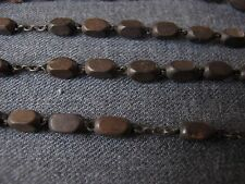 58 VINTAGE WIRED WOOD LOOSE BEADS FOR JEWELRY MAKING OR REPURPOSE   7563 B
