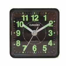 Casio TQ140-1D Travel Desk Quartz Alarm Clock Neobrite Resin Case Small Portable
