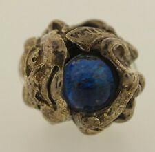 New Authentic Trollbeads Dichroic Glass Troll 61707 Silver Charm Bead Nice color