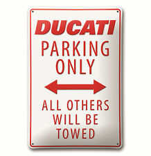 Ducati 987694028 Metallschild Dekoschild Metal Sign Schild Blechschild PARKING
