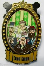 Disney Cutest Couple Bride and Husbands Haunted Mansion Spinner Pin