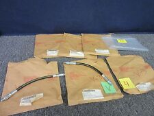 """6 HIGH PRESSURE HYDRAULIC HOSES 5000 PSI GREASE OIL 1/4"""" ID 14"""" MILITARY NEW"""