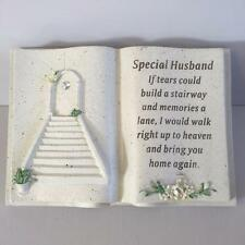 SPECIAL HUSBAND Memorial Stone Garden Grave Book Ornament STAIRWAY TO HEAVEN