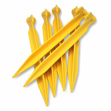 Summit Power Pegs 6 Pack Yellow Plastic 23 x 2 x 3 cm Tent Pegs Camping Outdoors