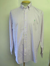 Ralph Lauren POLO men's Striped Long Sleeved Casual Shirt Loose Fit Size M 38-40