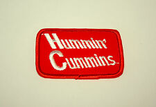 2 Vintage Hummin Cummins Engines Cloth Patch New NOS 1970s Diesel Truck