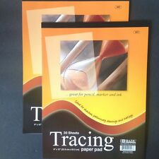 """✨2-Tracing Paper Pad~30-Sheets for Sketch~Sewing~Arts~Craft: 9"""" x 12"""" by Bazic✨"""