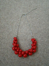 Fashoin red beaded necklace B/N