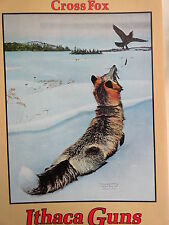 Ithaca Gun Company 1909 Advertising poster Cross Fox