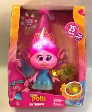 DreamWorks Trolls Hug Time Poppy Plush Doll Talking Singing Light Up Toy Figure