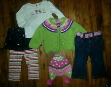 Girls 12-18 month Gymboree Fall lot 6pieces eeuc skirt jeans cardigan sweater