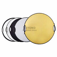 "43"" 5 in 1 Photo Studio Round Light Reflector Handheld Multi Collapsible Disc"