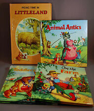 4 A Delightful Book incl Toddlers Tales On the Farm Animal Antics Picnic Time