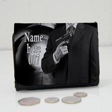 Personalised James Bond Secret Agent Wallet Dad Grandads Mens Lads Gift ST396