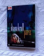 DIANA KRALL – LIVE IN PARIS (DVD) R-2,4, LIKE NEW, FREE SHIPPING IN AUSTRALIA