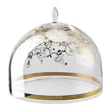 """VERSACE BY ROSENTHAL,GERMANY  """"MEDUSA GALA"""" GLASS DOME FOR 13"""" FOOTED CAKE PLATE"""