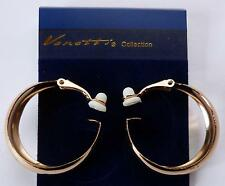 **BEAUTIFUL 2.5cm SMALL HOOP STYLE CLIP-ON EARRINGS - GOLD PLATED**