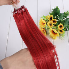 "7A+ micro loop ring Tipped remy human hair extensions 16""18""20""22"" Straight Hair"