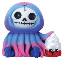 FURRY BONES FIGURINE - JELLY THE JELLYFISH - SKELETON SKULL IN COSTUME = NEWEST