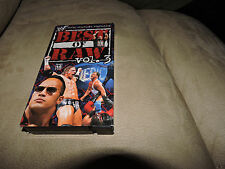 Rare WWF Best of Raw Vol. 3 VHS Video WWE  Rock HHH Stone Cold Undertaker