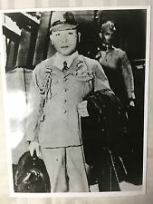 ww2 photo press Japanese naval staff officer arrives on US ship   1945  A125