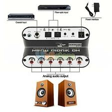Digital Dolby DTS AC3 Optical to Analog 5.1 Stereo Digital Audio Decoder US Ship