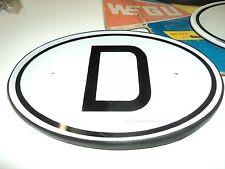 """Porsche 356 VW Mercedes """"WEGU"""" D-Plate Nationalitätenkennzeichen D-Schild NOS"""