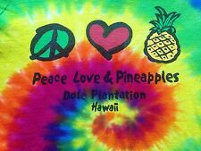 VINTAGE DOLE PINEAPPLE PLANTATION TIE DYED T SHIRT SMALL