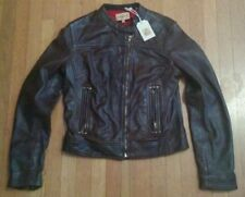 LEVI MADE and CRAFTED SHEEPSKIN LEATHER CAFE RACER MOTORCYCLE JACKET S jeans