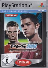 PES 2008 Pro Evolution Soccer  (PS2 Platinum) In Box, mit Anleitung