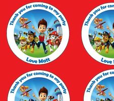 Personalised Paw Patrol 48mm Birthday Stickers Party Thank You Seals