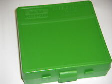 MTM Case Gard™ New MTM Plastic Ammo Box 100 Round 44 MAG P100-44-10 Solid Green