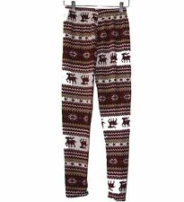 Women's ONE SIZE Winter Snowflakes Pattern Warm Legging Skinny NEW 6 Color Print