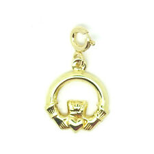 9ct Yellow Gold Claddagh / Sacred Heart Charm with Jump Ring                8983