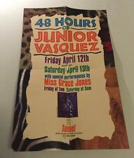 Rare Vintage 90s Club Flyer: JUNIOR VASQUEZ w/ GRACE JONES @ TUNNEL NYC Poster