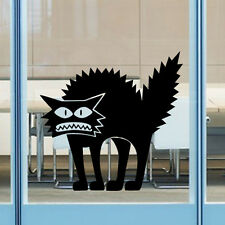 1x Black Funny Cat Removable HALLOWEEN Vinyl Decal Car Window Wall Sticker Chic