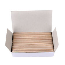 1Box 6 Inch Wood Tongue Depressor Large Wooden Waxing Spatula Wax Stick Craft HI