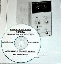 HP Hewlett Packard 86633A AM-FM Modulation Module Operating & Service Manual