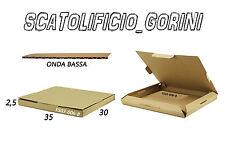 10 PZ SCATOLE CARTONE 35x30x2 ,5 FUSTELLATE IMBALLO  SPEDIZIONE BAULETTO PIATTE