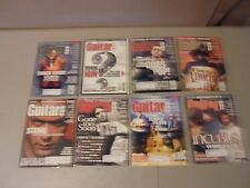 LOT OF 8 2001 GUITAR ONE MAGAZINE,MEGADEATH,PAPA ROACH,CHILI PEPPERS,STRIAND,