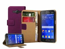 WALLET Leather Mobile Phone Samsung Galaxy Core 2 - Case Cover Pouch