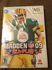 BRAND NEW FACTORY SEAL Madden NFL 09 All Play - Nintendo Wii FREE SHIP!