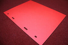5 RED CARDBOARD DIVIDERS/PAGES FOR 200 COINS NUMIS ALBUM