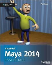 NEW Autodesk Maya 2014 Essentials by Paul Naas Paperback Book (English) Free Shi