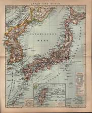 Landkarte map1902: JAPAN UND KOREA. TSHI-SHIMA. THAI-WAN. Maßstab: 1 : 8.000 000