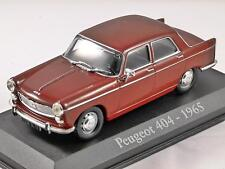 1965 PEUGEOT 404 in Brown 1/43 scale diecast model car by RBA Collectables