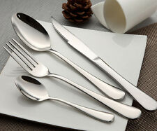 16 Piece Stainless Steel Flatware Set Silverware, Service 4 Place Settings New