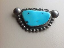 Southwestern Santa Fee Style Silver And Turquoize Brooch