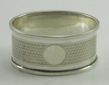 Early 20th century .925 sterling silver serviette napkin ring Chester 1923