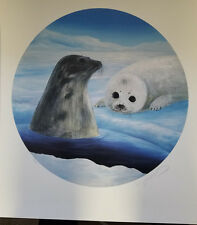 """Great WYLAND Lithograph """"Harp Seals"""" Signed and Numbered 26/650 but without COA"""